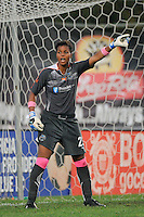 Philadelphia Independence goalkeeper Karina LeBlanc (23). Sky Blue FC defeated the Philadelphia Independence 1-0 during a Women's Professional Soccer (WPS) match at Yurcak Field in Piscataway, NJ, on August 22, 2010.