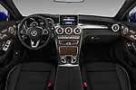 Stock photo of straight dashboard view of 2018 Mercedes Benz C-Class C-300 2 Door Convertible Dashboard