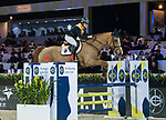 Team DASH rider Clarissa Lyra of Hong Kong riding Chardonay Haras des Barrages competes in the HKJC Race Of The Riders during the Longines Masters of Hong Kong at the Asia World Expo on 09 February 2018, in Hong Kong, Hong Kong. Photo by Diego Gonzalez / Power Sport Images