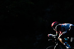 UAE Team Emirates in action during Stage 21 final stage of La Vuelta d'Espana 2021, an individual time trial running 33.8km from Padron to Santiago de Compostela, Spain. 5th September 2021.    <br /> Picture: Charly Lopez/Unipublic | Cyclefile<br /> <br /> All photos usage must carry mandatory copyright credit (© Cyclefile | Unipublic/Charly Lopez)