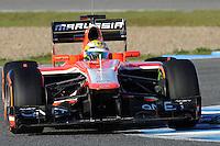 Formule 1: Test  Jerez 06/02/2013.LUIS RAZIA (BRA) MARUSSIA F1 TEAM ACTION .Jerez 06/02/2013 .Formula 1 2013 Test.Foto Gilles Levent / Panoramic / Insidefoto .ITALY ONLY