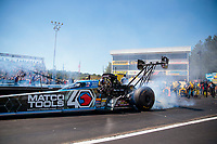 Sep 15, 2019; Mohnton, PA, USA; NHRA top fuel driver Antron Brown during the Reading Nationals at Maple Grove Raceway. Mandatory Credit: Mark J. Rebilas-USA TODAY Sports