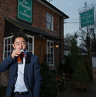 Peter Zhang, Managing Director, SinoFortone Group outside the The Plough at Cadsden, Buckinghamshire. The group bought the pub after it was visited by Chinese Premiere Ji Jinping last year, and aim to develop  a chain of English-style pubs China.<br /> <br /> Photo by Richard Jones