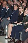 Princess Letizia of Spain and Madrid´s President Ignacio Gonzalez attend `El barco de vapor´ Awards ceremony at Real Casa de Correos in Madrid, Spain. April 01, 2014. (ALTERPHOTOS/Victor Blanco)