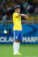 Paulinho of Brazil looks dejected