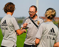 20200911 - TUBIZE , Belgium : Media officer Jonathan Vanootghem picture during a training session of the Belgian Women's National Team, Red Flames , on the 11th of September 2020 in Tubize. PHOTO SEVIL OKTEM  SPORTPIX.BE