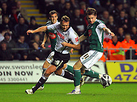 ATTENTION SPORTS PICTURE DESK<br /> Pictured: Lee Trundle of Swansea City in action <br /> Re: Coca Cola Championship, Swansea City Football Club v Plymouth Argyle at the Liberty Stadium, Swansea, south Wales. Tuesday 08 December 2009