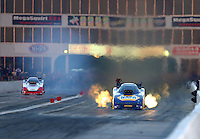 May 15, 2015; Commerce, GA, USA; NHRA funny car driver Ron Capps during qualifying for the Southern Nationals at Atlanta Dragway. Mandatory Credit: Mark J. Rebilas-USA TODAY Sports