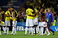 MOSCU - RUSIA, 03-07-2018: Cristian ZAPATA y Yerry MINA jugadores de Colombia lucen decepcionados después del partido de octavos de final entre Colombia y Inglaterra por la Copa Mundial de la FIFA Rusia 2018 jugado en el estadio del Spartak en Moscú, Rusia. / Cristian ZAPATA and Yerry MINA players of Colombia look disappointed after the match between Colombia and England of the round of 16 for the FIFA World Cup Russia 2018 played at Spartak stadium in Moscow, Russia. Photo: VizzorImage / Julian Medina / Cont