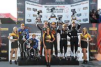 #54 JDC-Miller MotorSports, Audi RS3 LMS TCR, TCR: Michael Johnson, Stephen Simpson, #77 Compass Racing, Audi RS3 LMS TCR, TCR: Britt Casey Jr, Tom Long, #12 eEuroparts.com Racing, Audi RS3 LMS TCR, TCR: Kenton Koch, Tom O'Gorman, podium