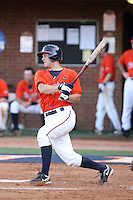 John Barr of the Virginia Cavaliers playing in Game Two of the NCAA Super Regional tournament against the Oklahoma Sooners at Charlottesville, VA - 06/13/2010. Oklahoma defeated Virginia, 10-7, to tie the series after two games.  Photo By Bill Mitchell / Four Seam Images