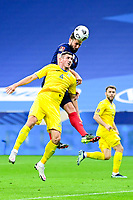 24th March 2021; Stade De France, Saint-Denis, Paris, France. FIFA World Cup 2022 qualification football; France versus Ukraine;  GIROUD OLIVIER (France) wins the header over Serhhiy Kryvtsov (Ukraine)