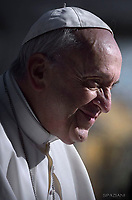 Pope Francis during of a weekly general audience at St Peter's square in Vatican.March 14, 2018