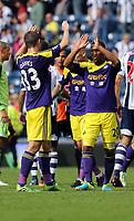 Pictured: (L-R) Ben Davies, Jonathan de Guzman.<br /> Sunday 01 September 2013<br /> Re: Barclay's Premier League, West Bromwich Albion v Swansea City FC at The Hawthorns, Birmingham, UK.