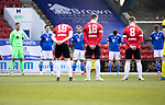 St Johnstone v Clyde…17.04.21   McDiarmid Park   Scottish Cup<br />The players observe a minutes silence in memory of the Duke Of Edinburgh<br />Picture by Graeme Hart.<br />Copyright Perthshire Picture Agency<br />Tel: 01738 623350  Mobile: 07990 594431