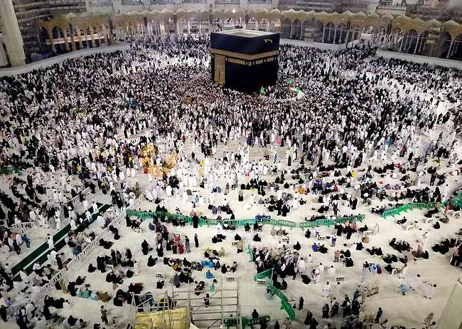 Muslim Pilgrims gather around the Kaaba, Islam's holiest shrine, during the annual Umrah pilgrimage at the Grand Mosque in the Saudi city of Mecca, on January 17, 2020. Photo by Stringer