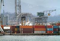 - La Spezia harbor, containers terminal....- porto di La Spezia, terminal containers