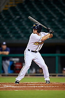 Montgomery Biscuits center fielder Braxton Lee (15) at bat during a game against the Mississippi Braves on April 24, 2017 at Montgomery Riverwalk Stadium in Montgomery, Alabama.  Montgomery defeated Mississippi 3-2.  (Mike Janes/Four Seam Images)