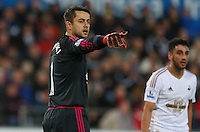 Lukasz Fabianski of Swansea City during the Barclays Premier League match between Swansea City and West Ham United played at The Liberty Stadium, Swansea on 20th December 2015