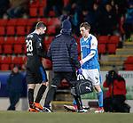 27.02.18 St Johnstone v Rangers:<br /> Jamie Murphy limps off