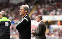 Pictured: West Brom manager Alan Irvine. Saturday 30 August 2014<br /> Re: Premier League, Swansea City FC v West Bromwich Albion at the Liberty Stadium, south Wales, UK