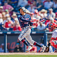 2 March 2019: Minnesota Twins infielder Ronald Torreyes in action during a Spring Training game against the Washington Nationals at the Ballpark of the Palm Beaches in West Palm Beach, Florida. The Twins fell to the Nationals 10-6 in Grapefruit League play. Mandatory Credit: Ed Wolfstein Photo *** RAW (NEF) Image File Available ***
