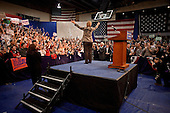 Manchester, New Hampshire.January 7, 2008 ..Democratic presidential hopeful and New York Senator Hillary Clinton holds a victory rally at Southern New Hampshire University with her husband former President Bill Clinton and her daughter Chelsea...
