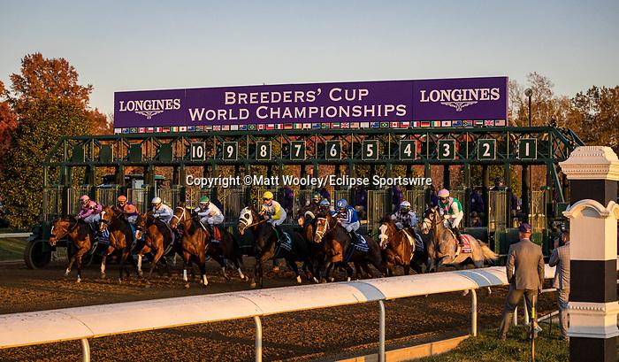 Authentic (#9, Into Mischief), John Velasquez up. wins the BC Classic at Keeneland 11.07.20. Winning Owner: Spendthrift Farm LLC, MyRaceHorse Stable, Madaket Stables LLC and Starlight Racing <br /> Winning Trainer: Bob Baffert