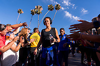 PASADENA, CA - AUGUST 3: Carli Lloyd #10 enters the stadium during a game between Ireland and USWNT at Rose Bowl on August 3, 2019 in Pasadena, California.