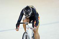 Waikato BOP Emma Poole at the BikeNZ Elite & U19 Track National Championships, Avantidrome, Home of Cycling, Cambridge, New Zealand, Sunday, March 16, 2014. Credit: Dianne Manson