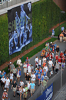 Fans leave after the game. Sky Blue FC defeated the Boston Breakers 2-1 during a WPS regular season match at Harvard Stadium in Boston, MA, on July 12, 2009.