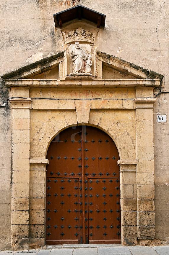 Ancient door, Segovia,  Spain