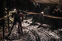 super slippery mud<br /> <br /> U23 Men's race<br /> Superprestige Gavere / Belgium 2017