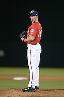 Fort Myers Miracle pitcher Alex Muren (24) gets ready to deliver a pitch during a game against the Tampa Yankees on April 15, 2015 at Hammond Stadium in Fort Myers, Florida.  Tampa defeated Fort Myers 3-1 in eleven innings.  (Mike Janes/Four Seam Images)