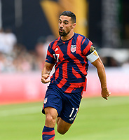 AUSTIN, TX - JULY 29: Sebastian LLetget #17 of the United States chases after a loose ball during a game between Qatar and USMNT at Q2 Stadium on July 29, 2021 in Austin, Texas.