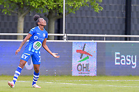 Lakeesha Eikjken (7) of AA Gent pictured during a female soccer game between AA Gent Ladies and Oud Heverlee Leuven on the fourth matchday of play off 1 in the 2020 - 2021 season of Belgian Scooore Womens Super League , saturday 1 st of May 2021  in Oostakker , Belgium . PHOTO SPORTPIX.BE | SPP | STIJN AUDOOREN