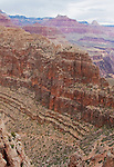 Arizona, Grand Canyon, Grand Canyon National Park, Hermit Trail, below the South Rim, Hermit to Bright Angel Loop, Southwest American desert, U.S.A.,