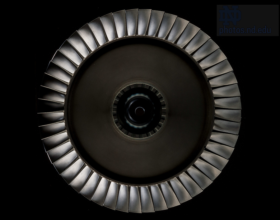 April 10, 2017; Disc from a gas turbine engine (Photo by Matt Cashore/University of Notre Dame)