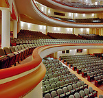 Interior of the NC Blumenthal Center for the Performing Arts.