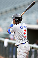 Mesa Solar Sox shortstop Addison Russell (9) during an Arizona Fall League game against the Peoria Javelinas on October 15, 2014 at Surprise Stadium in Surprise, Arizona.  Mesa defeated Peoria 5-2.  (Mike Janes/Four Seam Images)