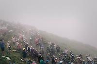 The grupetto up the misty Port de Balès (HC/1755m/11.7km/7.7%)<br /> <br /> 104th Tour de France 2017<br /> Stage 12 - Pau › Peyragudes (214km)