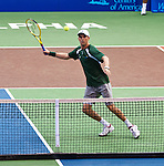 Mike Bryan at the Freedoms vs. Explorers WTT match in Villanova, PA on July 16, 2012