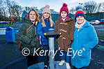 Cliona and Amy O'Connell, Ava and Theresa Dore enjoying the Listowel town park on New Years Eve.