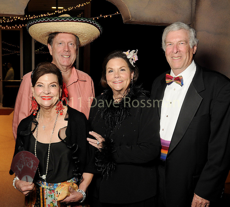 From left: Laura and Bill Wheless with Kaylee and Gene Werlin at the Ole! A Night in Old Mexico Gala at the Museum of Natural Science Saturday March 05,2016.(Dave Rossman Photo)