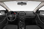 Stock photo of straight dashboard view of 2019 Isuzu D-Max LT 2 Door Pick-up Dashboard