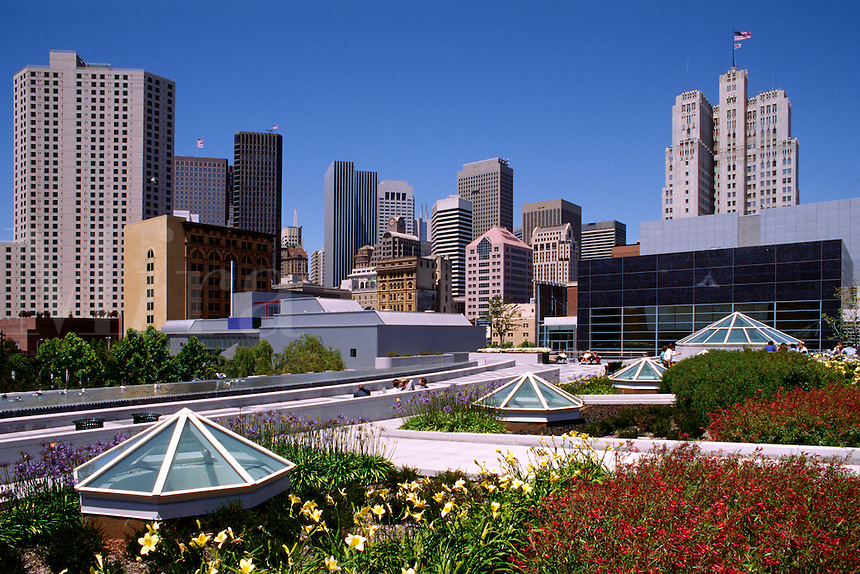 SAN FRANCISCO ARCHITECTURE and the YERBA BUENA GARDENS - CALIFORNIA, USA.