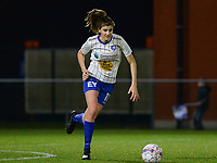 20180126 - OOSTAKKER , BELGIUM : Gent's Marie Minnaert pictured during the quarter final of Belgian cup 2018 , a womensoccer game between KAA Gent Ladies and RSC Anderlecht , at the PGB stadion in Oostakker , friday 27 th January 2018 . PHOTO SPORTPIX.BE   DAVID CATRY