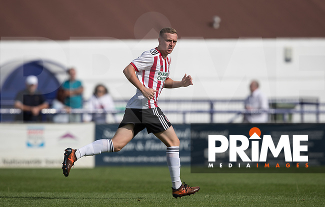 Jordan Hallam of Sheffield United during the Professonal Development League match between Watford U23 and Sheffield United U23 at The Maurice Rebak Stadium, Summers Lane, England on 17 August 2018. Photo by Andy Rowland.