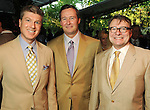 From left: Randy Powers, Keith Spickelmier and Bill Caudell at the Bayou Bend Garden Party Sunday April 25,2010.. (Dave Rossman Photo)