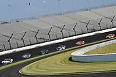 #11: Denny Hamlin, Joe Gibbs Racing, Toyota Camry FedEx Express and #4: Kevin Harvick, Stewart-Haas Racing, Ford Mustang Busch Light Patriotic